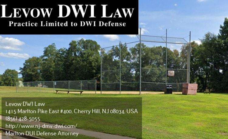 DUI defense attorney in Marlton, NJ near baseball field